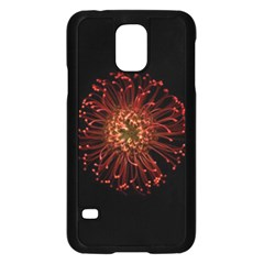 Red Flower Blooming In The Dark Samsung Galaxy S5 Case (black) by Sapixe