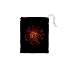 Red Flower Blooming In The Dark Drawstring Pouches (xs)  by Sapixe