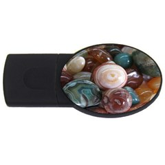 Rain Flower Stones Is A Special Type Of Stone Found In Nanjing, China Unique Yuhua Pebbles Consistin Usb Flash Drive Oval (2 Gb) by Sapixe