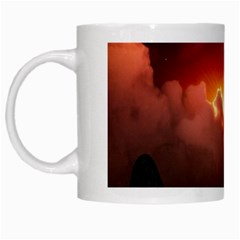 Red Fantasy White Mugs