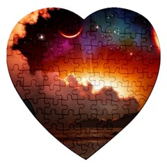 Red Fantasy Jigsaw Puzzle (heart)