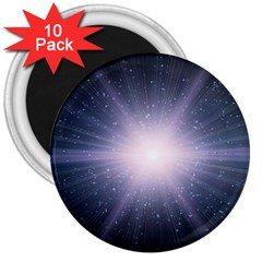 Real Photographs In Saturns Rings 3  Magnets (10 Pack)
