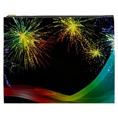 Rainbow Fireworks Celebration Colorful Abstract Cosmetic Bag (xxxl)