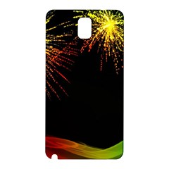 Rainbow Fireworks Celebration Colorful Abstract Samsung Galaxy Note 3 N9005 Hardshell Back Case by Sapixe