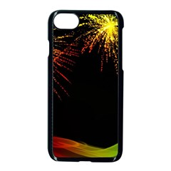 Rainbow Fireworks Celebration Colorful Abstract Apple Iphone 7 Seamless Case (black)