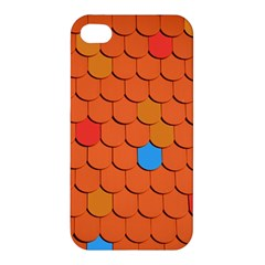 Roof Brick Colorful Red Roofing Apple Iphone 4/4s Hardshell Case by Sapixe