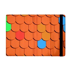 Roof Brick Colorful Red Roofing Apple Ipad Mini Flip Case by Sapixe