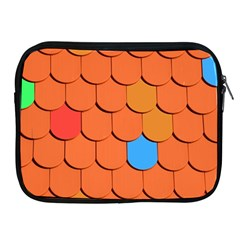 Roof Brick Colorful Red Roofing Apple Ipad 2/3/4 Zipper Cases by Sapixe