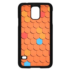 Roof Brick Colorful Red Roofing Samsung Galaxy S5 Case (black)