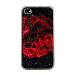 Red Nebulae Stella Apple Iphone 4 Case (clear)