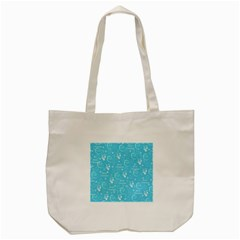 Santa Christmas Collage Blue Background Tote Bag (cream) by Sapixe