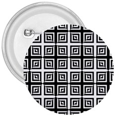 Seamless Pattern Background Black And White 3  Buttons by Sapixe