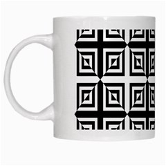 Seamless Pattern Background Black And White White Mugs