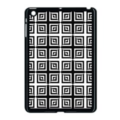 Seamless Pattern Background Black And White Apple Ipad Mini Case (black)