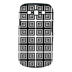 Seamless Pattern Background Black And White Samsung Galaxy S Iii Classic Hardshell Case (pc+silicone)