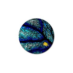 Sea Fans Diving Coral Stained Glass Golf Ball Marker (4 Pack)