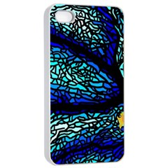 Sea Fans Diving Coral Stained Glass Apple Iphone 4/4s Seamless Case (white)