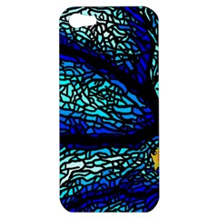 Sea Fans Diving Coral Stained Glass Apple Iphone 5 Hardshell Case by Sapixe