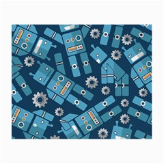 Seamless Pattern Robot Small Glasses Cloth (2-side) by Sapixe