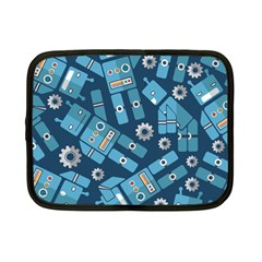 Seamless Pattern Robot Netbook Case (small)  by Sapixe