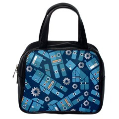 Seamless Pattern Robot Classic Handbags (one Side)