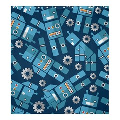 Seamless Pattern Robot Shower Curtain 66  X 72  (large)  by Sapixe