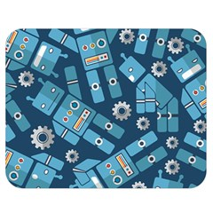 Seamless Pattern Robot Double Sided Flano Blanket (medium)