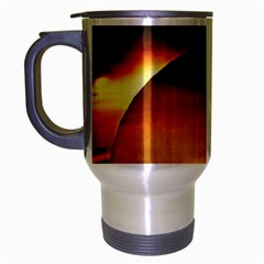 Saturn Rings Fantasy Art Digital Travel Mug (silver Gray) by Sapixe