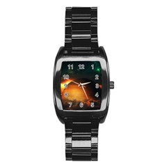 Saturn Rings Fantasy Art Digital Stainless Steel Barrel Watch by Sapixe