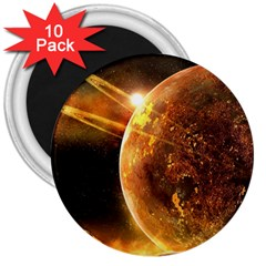 Sci Fi Planet 3  Magnets (10 Pack)  by Sapixe