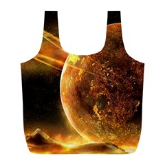 Sci Fi Planet Full Print Recycle Bags (l)