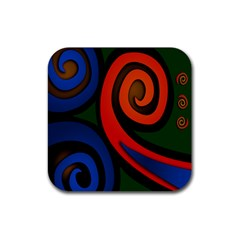 Simple Batik Patterns Rubber Square Coaster (4 Pack)  by Sapixe