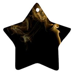 Smoke Fume Smolder Cigarette Air Star Ornament (two Sides) by Sapixe