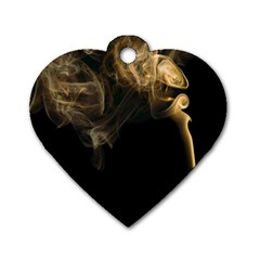 Smoke Fume Smolder Cigarette Air Dog Tag Heart (one Side) by Sapixe