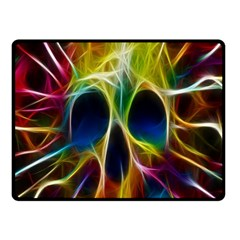 Skulls Multicolor Fractalius Colors Colorful Fleece Blanket (small) by Sapixe