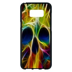Skulls Multicolor Fractalius Colors Colorful Samsung Galaxy S8 Plus Black Seamless Case