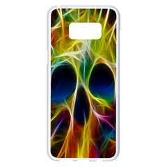 Skulls Multicolor Fractalius Colors Colorful Samsung Galaxy S8 Plus White Seamless Case