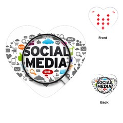Social Media Computer Internet Typography Text Poster Playing Cards (heart)  by Sapixe