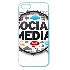 Social Media Computer Internet Typography Text Poster Apple Seamless Iphone 5 Case (color) by Sapixe