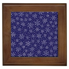 Snowflakes Pattern Framed Tiles by Sapixe