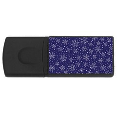 Snowflakes Pattern Rectangular Usb Flash Drive by Sapixe