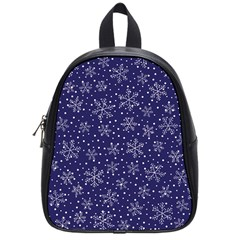 Snowflakes Pattern School Bag (small) by Sapixe