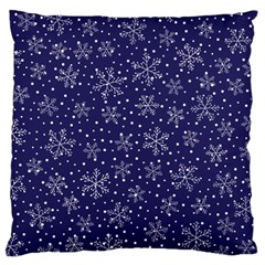 Snowflakes Pattern Large Cushion Case (one Side) by Sapixe