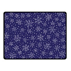 Snowflakes Pattern Double Sided Fleece Blanket (small)  by Sapixe