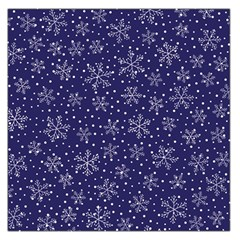 Snowflakes Pattern Large Satin Scarf (square) by Sapixe