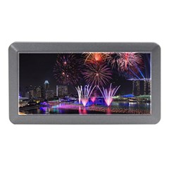 Singapore The Happy New Year Hotel Celebration Laser Light Fireworks Marina Bay Memory Card Reader (mini) by Sapixe