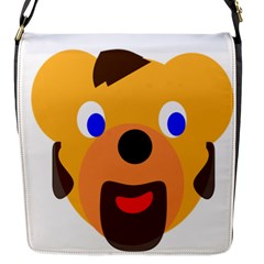 Solidarity Clipart Bear Head Teddy Bear Xmas Christmas Stuffed Animal Flap Messenger Bag (s) by Sapixe