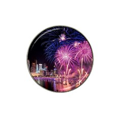 Singapore New Years Eve Holiday Fireworks City At Night Hat Clip Ball Marker (4 Pack)