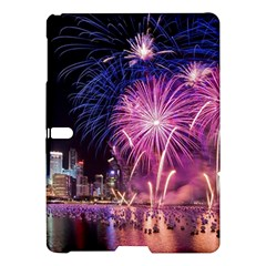 Singapore New Years Eve Holiday Fireworks City At Night Samsung Galaxy Tab S (10 5 ) Hardshell Case