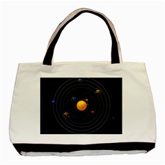 Solar System Basic Tote Bag by Sapixe
